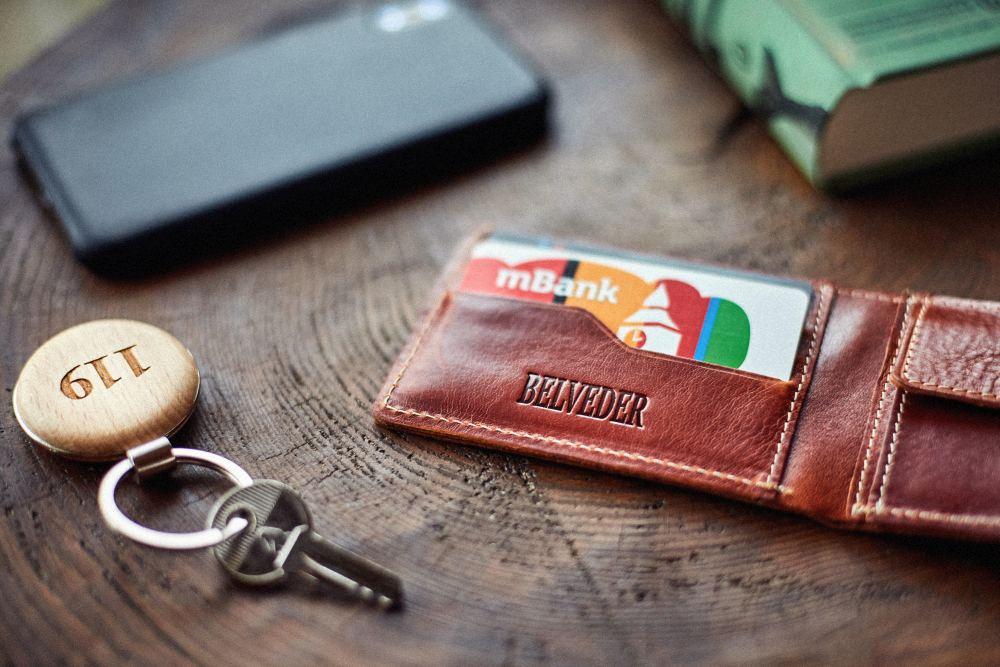 portfel szyty ręcznie